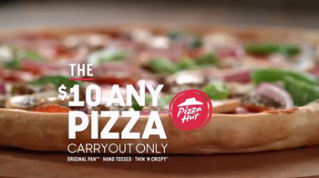 Pizza Hut $10 Any Pizza TV Spot, 'Carryout Deal'