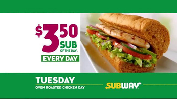 Subway $3.50 Sub of the Day TV Spot, 'Life's Important Days' - Thumbnail 6