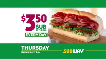 Subway $3.50 Sub of the Day TV Spot, 'Life's Important Days' - Thumbnail 7
