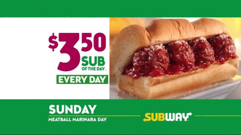 Subway $3.50 Sub of the Day TV Spot, 'Life's Important Days' - Thumbnail 8