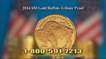 National Collector's Mint 2016 Gold Buffalo Tribute Proof TV Spot, 'Dollar'