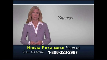 Lanham Blackwell & Baber TV Spot, 'Hernia Physiomesh Helpline'