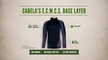 Cabela's E.C.W.C.S. Base Layer TV Spot, 'Every Day Value: No Sweat'