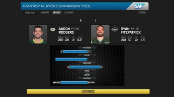 SAP Player Comparison Tool TV Spot, 'Week One'