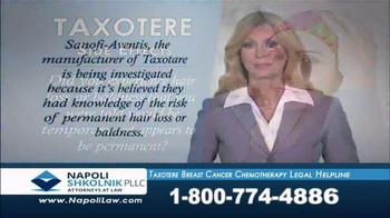 Napoli Shkolnik TV Spot, 'Taxotere Breast Cancer Helpline'