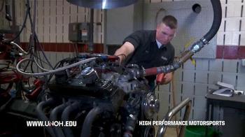 University of Northwestern Ohio TV Spot, 'High Performance Motorsports'