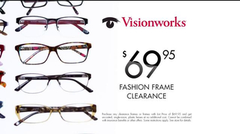Visionworks Yellow Tag Clearance TV Spot, 'Fashion Frames'