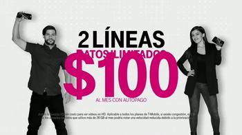 T-Mobile One TV Spot, 'Obtén dos líneas con datos ilimitados' [Spanish]