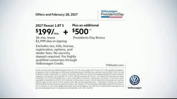 2017 Volkswagen Passat TV Spot, 'Presidents Day Bonus' - Thumbnail 6