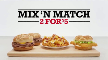Arby's 2 for $5 TV Spot, 'Mix 'n Match: Past vs. Present'