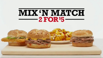 Arby's 2 for $5 Mix 'N Match TV Spot, 'Two by Two'