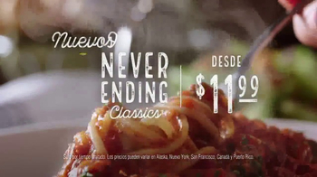 Olive Garden Never Ending Classics TV Spot, 'No tiene fin' [Spanish]