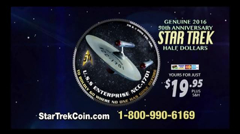2016 50th Anniversary Star Trek Half Dollars TV Spot, 'Boldly Go'