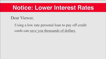Cheerlending TV Spot, 'Lower Interest Rates'