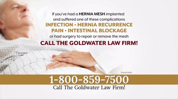 Goldwater Law Firm TV Spot, 'Hernia Mesh Implant'