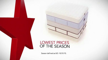Macy's Labor Day Mattress Sale TV Spot, 'Low Prices for the Season' - Thumbnail 1