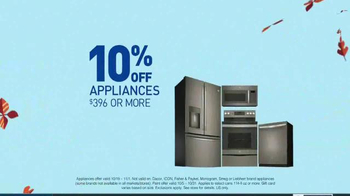 Lowe's TV Spot, 'Fall Fix: 10 Percent Off Appliances'