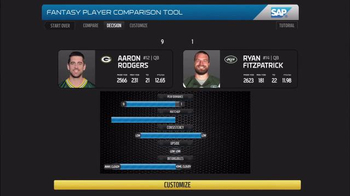 SAP Player Comparison Tool TV Spot, 'So Far This Season'