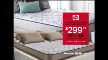 mattress firm venta semianual tv spot u0027tres piezas gratisu0027 spanish