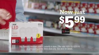 ACE Hardware Big LED Light Bulb Sale TV Spot, 'Save Energy'