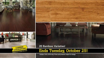 Lumber Liquidators TV Spot, 'Fall Trends: Bamboo, Prefinished and More'