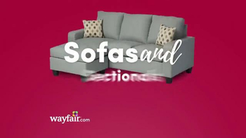 Wayfair Black Friday Blowout Sale TV Spot, 'Sofas, Area Rugs and Pillows'