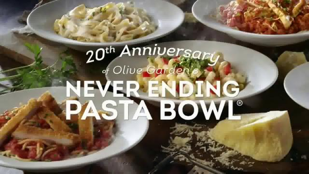Olive garden never ending pasta bowl tv commercial 39 we 39 re celebrating 39 What time does the olive garden close