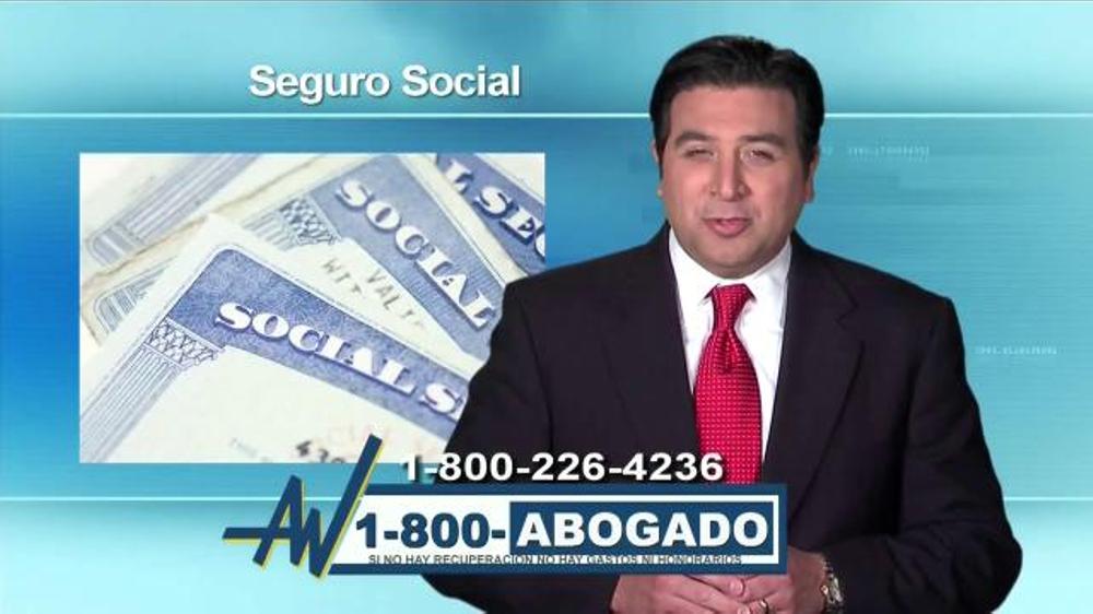 1 800 Abogado Tv Commercial Social Security Disability