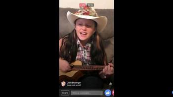 Facebook Live TV Spot, 'Singing Girl'