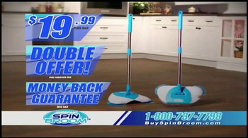 Hurricane Spin Broom TV Spot, 'Triple Brush Technology'