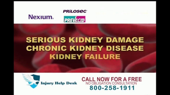Injury Help Desk TV Spot, 'Heartburn Drugs'