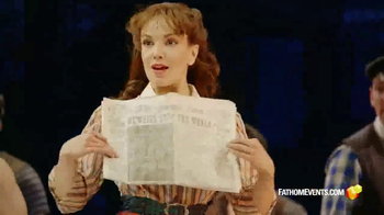 Fathom Events TV Spot, 'Disney's Newsies: The Broadway Musical'