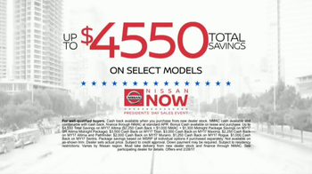 Nissan Now Presidents Day Sales Event TV Spot, '2017 Safety Picks' - Thumbnail 8