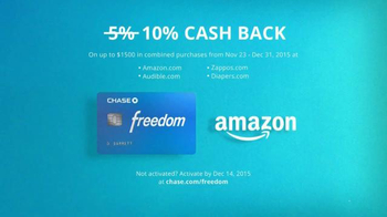 Chase Freedom TV Spot, 'Amazon: More Fun Out of the Holidays' - Thumbnail 6