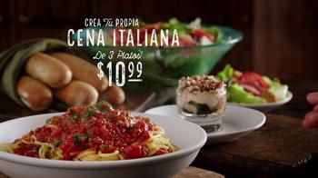 Olive Garden Cena Italiana de 3 Platos TV Spot, 'Delicioso' [Spanish]