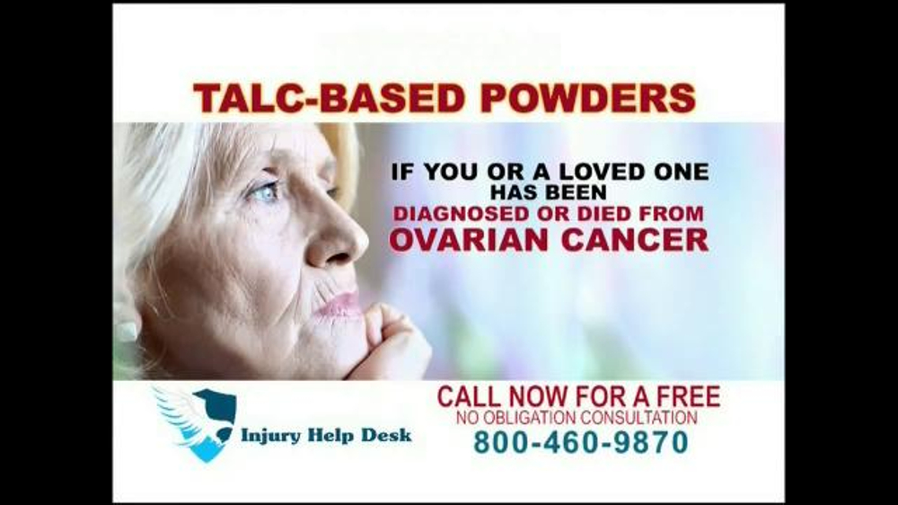 Pulaski Law Firm >> Injury Help Desk TV Commercial, 'Talcum Based Powders ...