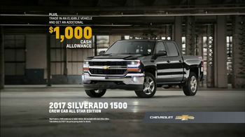 Chevrolet TV Spot, 'Silverado Special Editions: 2017 1500 All Star'