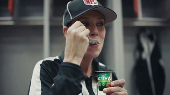 Dannon Activia TV Spot, 'NFL Official' Featuring Sarah Thomas