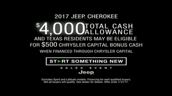 Jeep Start Something New Sales Event TV Spot, '2017 Cherokee'