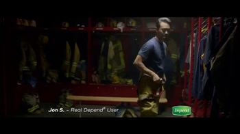 Depend Real Fit Briefs TV Spot, \'How Jon Keeps Saving the Day\'