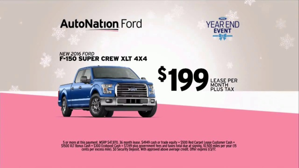 autonation year end event tv commercial 39 o christmas tree 2016 f 150 39. Black Bedroom Furniture Sets. Home Design Ideas