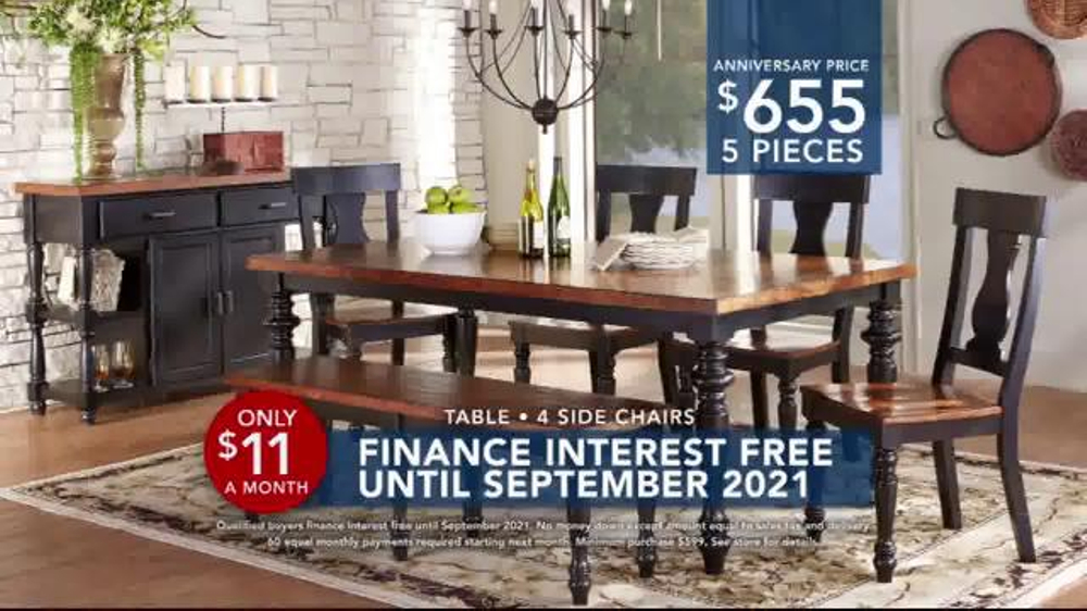 rooms to go tv commercial, '2016 labor day: interest-free dining