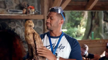 Alaska Airlines TV Spot, \'Woodcarving\' Featuring Russell Wilson