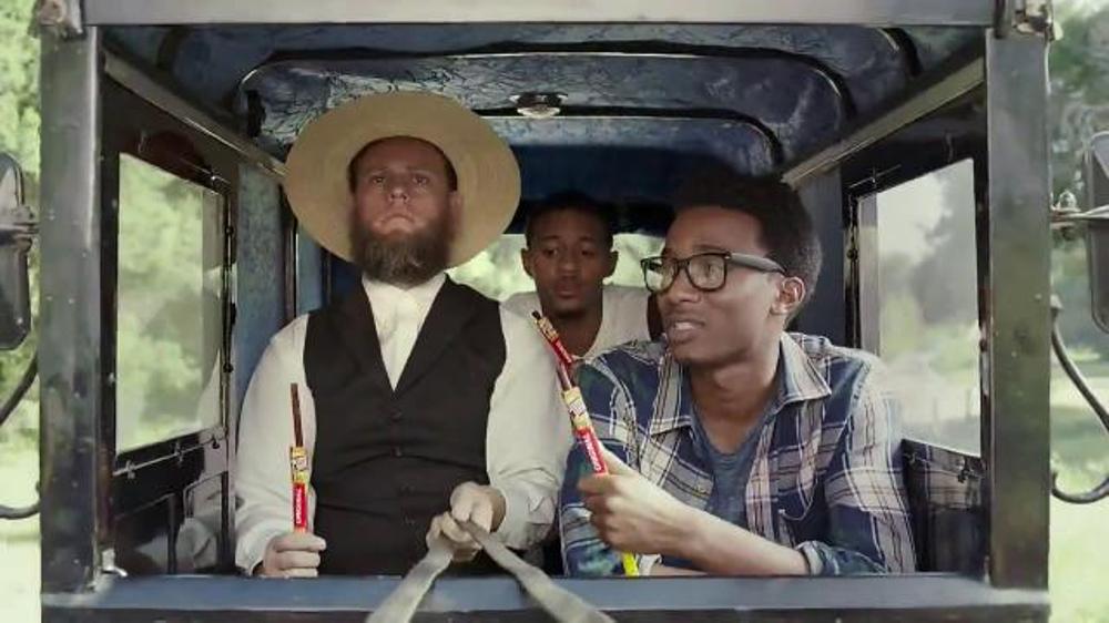 Slim jim tv spot amish buggy screenshot 7