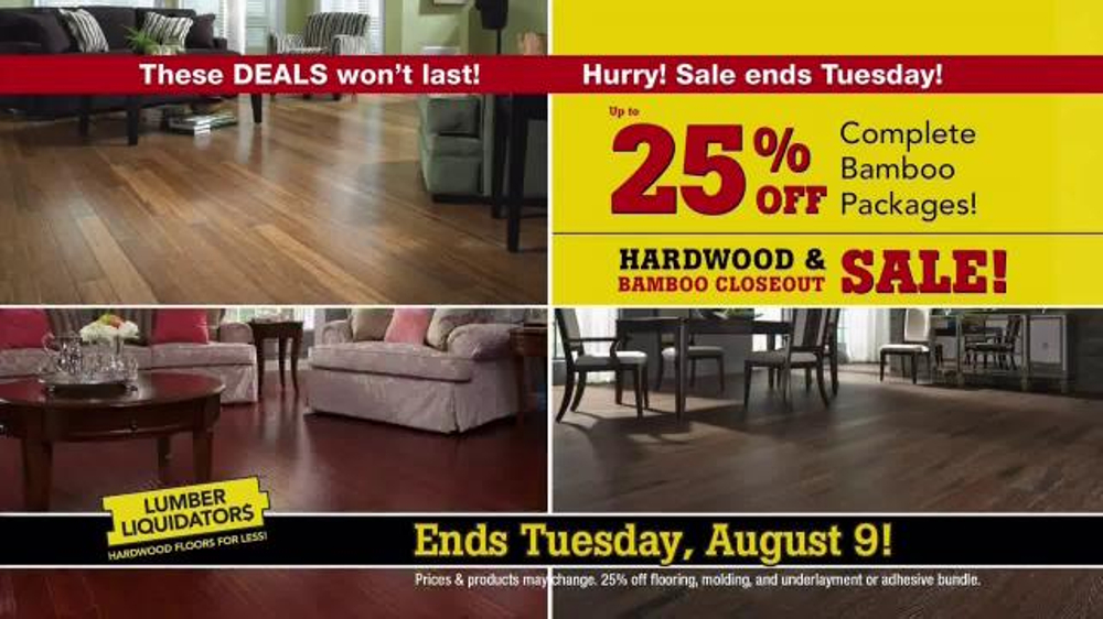 Lumber Liquidators Hardwood U0026 Bamboo Closeout Sale TV Commercial, U0027Ends  Tuesdayu0027   ISpot.tv