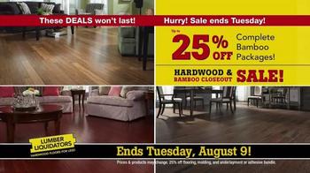 lumber liquidators hardwood & bamboo closeout sale tv commercial