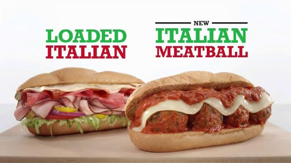 Arby s loaded italian and italian meatball tv commercial aptly named