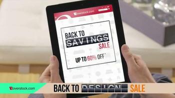 Overstock.com Back to Savings Sale TV Spot, 'Back to Living'