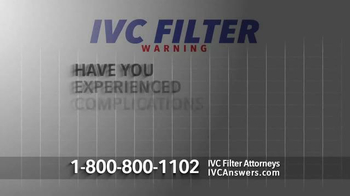 The Nations Law Firm TV Spot, 'IVC Filter Warning'