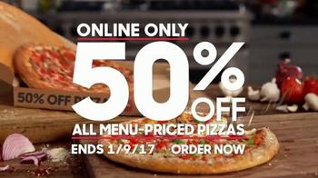 Pizza Hut Half-Off Pizzas TV Spot, 'New Year'